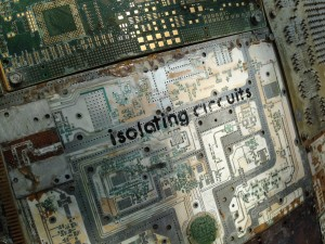 Circuits art piece detail