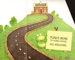 Illustration from Toad Makes a Road, Usborne Books